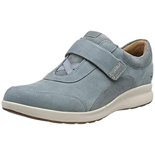Clarks Women's Un Adorn Lo Derbys, (Blue Grey 5 UK