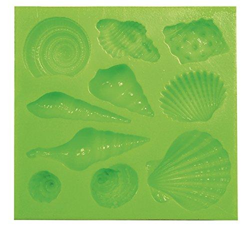 Muschel-Motive, 3D Silikonform, 11mm bis 46mm, für Modelliermasse oder essbare Verzierungen