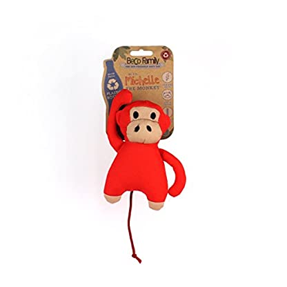 Beco Soft Toy - Michelle the Monkey made from Recycled Plastic Bottles - Toy for Dogs with Squeeker - M 4