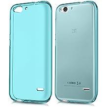 kwmobile Funda de TPU silicona chic y sencilla para el ZTE Blade S6 4G LTE en azul