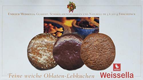 Weiss Weissella Oblatenlebkuchen 3-fach, 2er Pack (2 x 600 g)