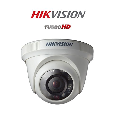 Hikvision DS-2CE56C0T-IRP 720P HD Indoor IR Turret Night Vision Dome Camera (White)