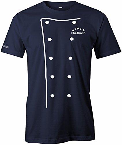 Chefkoch Kochjacke - Koch Jacke - WEISS - Herren T-Shirt in Navy by Jayess Gr. L (Koch-bekleidung)