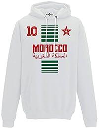 KiarenzaFD Sudadera con Capucha Hombre Nacional Deporte Morocco Marruecos  Maroc 10 Futbol Deporte Africa Stella 2 50e6cfb3fbe31