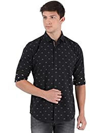 Sting Black Printed Full Sleeve Casual Shirt