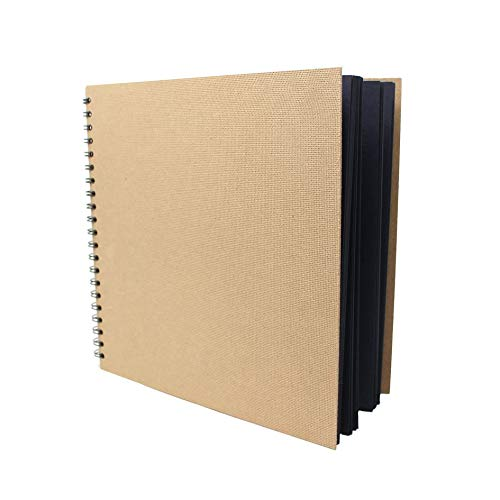 Artway Enviro - Skizzenbuch - groß & quadratisch - 100% Recycling - Schwarzes Papier/Karton - 285 x 285 mm - 30 Blatt mit 270 g/m²