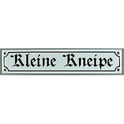 Straßenschild Kleine Kneipe 40x8 cm Türschild Kneipenschild Email Strassen Schild Emaille