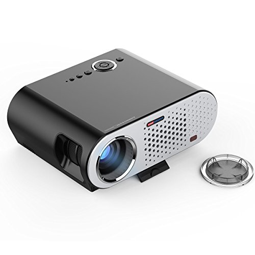 Vivibright gp90 portable projector led lcd 3200 lumens for Handheld projector best buy