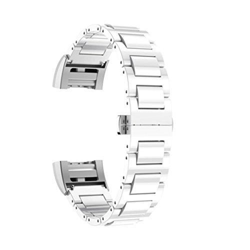 Omiky® Mode 2017 Keramik Schmetterling Verschluss Strap Ersatz Armband für Fitbit Charge 2 (Weiß)