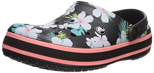 Crocs Unisex-Erwachsene Crocband Seasonal Graphic Clogs, Schwarz (Black/Floral 0cv), 39/40 EU