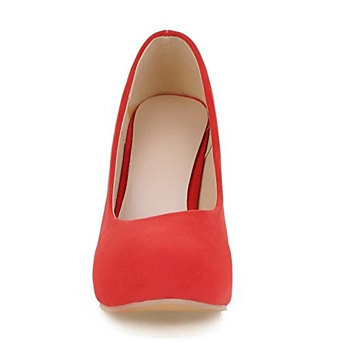 COOLCEPT Damen Mode-Event Slip On Pumps Stiletto Hoher Party Shoes Rot