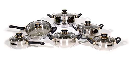 PMA. Originale coingab Marketing Design Batteria da Cucina in Acciaio Inox