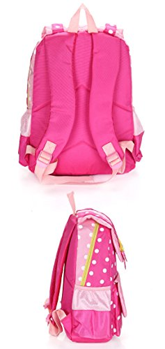 EssVita Kid Child Princess Style School Bags Backpack for Primary Girls Students (Style B Pink)