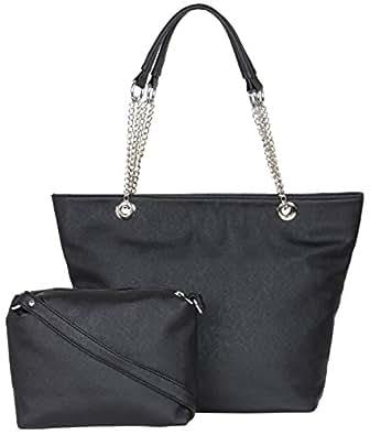 ADISA Black Women Handbag with Sling Bag Combo
