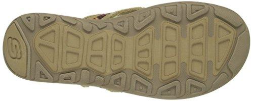 Skechers senza pari Preferisco flip-flop Tan/Amp/Multi Webbing
