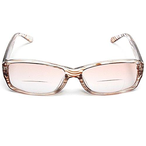 EgBert Unisex Multifunktionale Bifokale Augen Lesebrille Sun Glasess Stärke 1,0 1,5 2,0 2,5 3,0 3,5-2