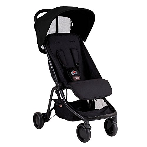 Mountain Buggy Nano Schwarz Travel Kinderwagen mit Nano Wetter Pack