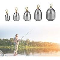 Yosoo Health Gear Kit de sumideros de Pesas 20PCS, Pesas de Pesca para Agua Dulce de Agua Salada, Incluye 5 Pesas Diferentes