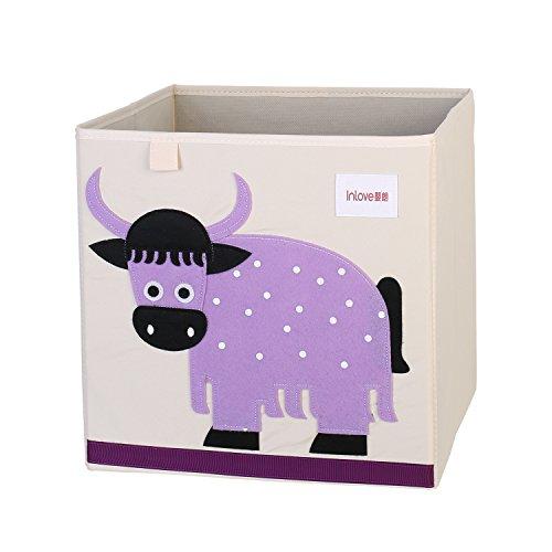 Tag Leinwand (Cartoon Aufbewahrungswürfel Leinwand faltbare Spielzeug Aufbewahrungsbox für Kinder von ELLEMOI (Rinder))