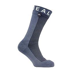 SealSkinz Herren Socks Waterproof Hiking Mid Mid, Black/Anthracite, L, 11116170500130