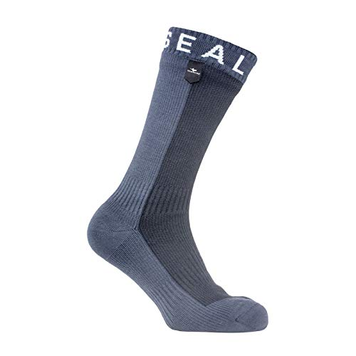 SealSkinz Herren Waterproof Hiking Mid Socks, Black/Anthracite, Large Nylon-winter-handschuhe