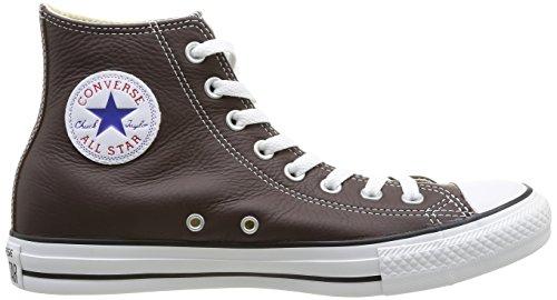 Converse Chuck Taylor All Star Core Lea Hi, Baskets mode mixte adulte Marron (9 Chocolat)