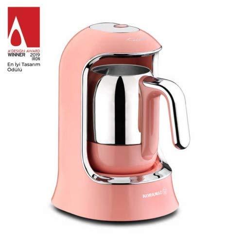 Korkmaz Kahvekolik Mokkamaschine 4 Tassen |Pink Lila Schwarz Rot Türkis Gold Farbe Pink |z1000