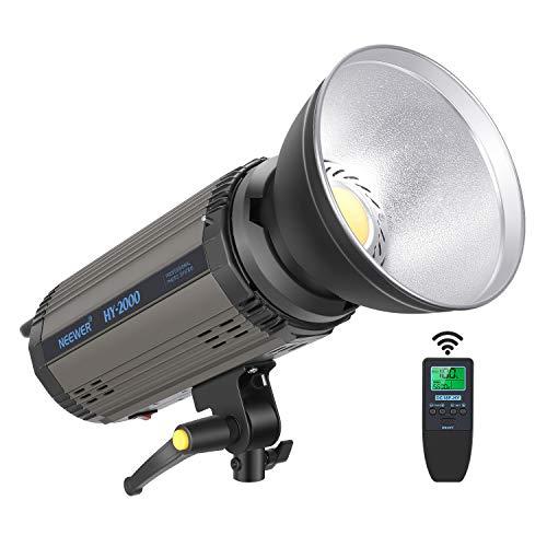Neewer 200Ws Dimmbares LED Videolicht 5600K Tageslicht ausgeglichenes Videolicht 21000LM Dauerleuchte mit Bowens Halterung für YouTube Video Porträt Fotografie Studio RA 95+