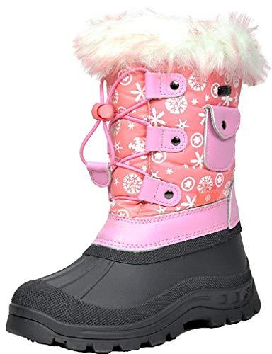 Dream Pairs Boys Girls KSNOW Mid Calf Waterproof Winter Snow Boots