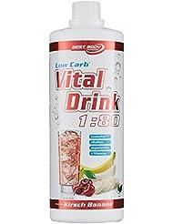 Best Body Nutrition - Low Carb Vital Drink, Banane Kirsch, 1000 ml Flasche