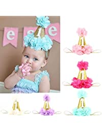 Voberry Baby-Girl's Photo Props Headbands Bling Crown Flower Party DIY Hair Bands