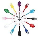 Samtlan - Horloges murales créatives / Home DIY Decoration Watch / Stainless Steel Knife and Fork Assorted Living Room 3D Wall Design(Multicolore)