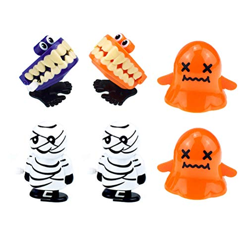 NUOBESTY Ghost Festival Halloween Springen Spielzeug Cartoon Geschenk (2pcs Random Style Zombie + 2pcs Random Style Ghost + 2pcs Random Style Bucktooth), 6pcs