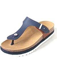 Scholl Idylla Navy Blue Tan Leather