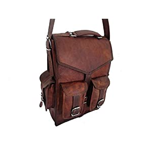 Urbankrfted handgemachte echtes Leder Mens Rucksack Tasche Laptop Satchel Aktenkoffer Brown Vintage