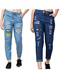 Singh Traders Store Women's Denim Slim Fit High Waist Ankle Length Jeans Combo (Blue, Free Size)…