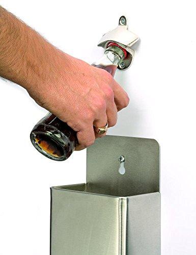 APS Kronkorken-Sammelbehälter ca. 13,5 x 8 x 24 cm Edelstahl Inhalt: 1 Stück