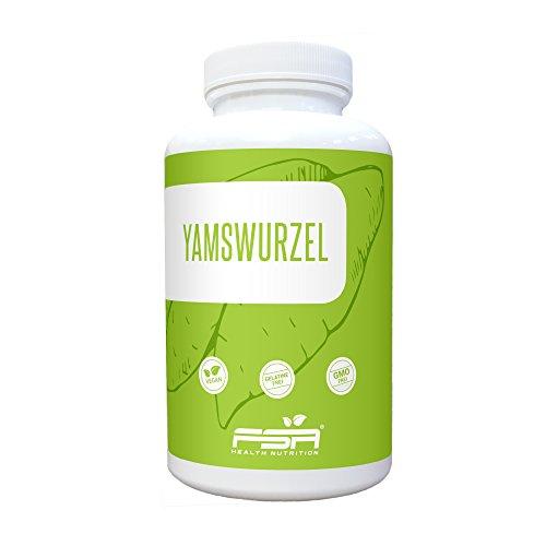 Yamswurzel Extrakt Kapseln hochdosiert der Profisport Marke FSA Nutrition | 20% reines Diosgenin | Wild Yam | Wechseljahre | Ohne Füll- und...