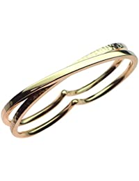 Roberto MARRONI One poliert und One, 18 ct Gold Double Ring