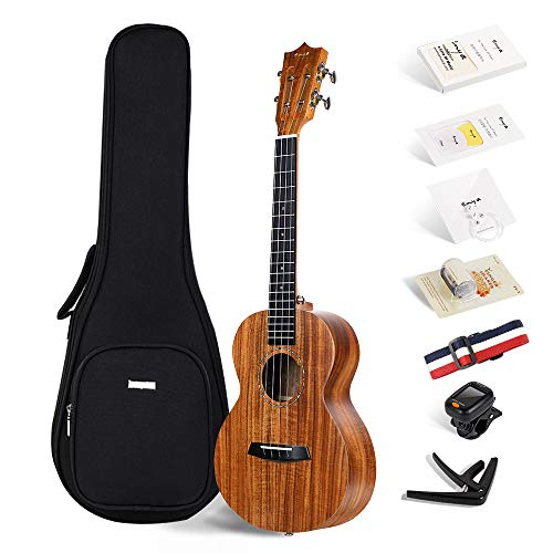 Enya EUT-70 tenore dimensioni ukulele 26 pollici KOA ukulele con una borsa imbottita ukulele, ukulele cinghia, sintonizzatore, stringhe, lucidatura accessori di stoffa etc.FREE