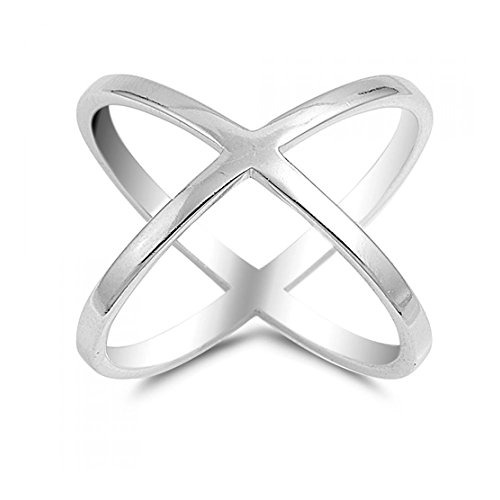 Sterlingsilber Criss Cross Ring