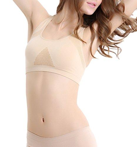 Smile YKK Lingerie de Nuit Femme Soutien-gorge Sans Armature Bra de Sport Yoga Running Respirant Complexion