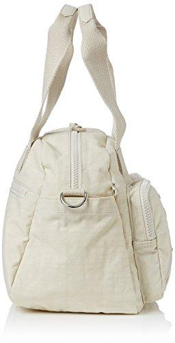 Kipling Defea - Sac porté main - Femme Beige (Dazzling Cream 32V)