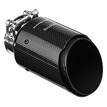 Scarico del silenziatore Coda del tubo - scarico Carbon Style Car fibra del silenziatore del tubo Fine Tip dallo scarico posteriore Silenziatori di scarico for auto con 60 mm Tubo Diametro