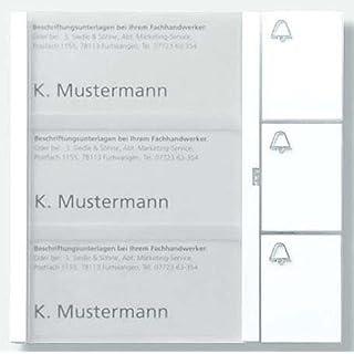 Siedle Tastenmodul 3 Tasten 1 und N-System, TM 612-3 Dg, dunkelgrau glimmer, 4919389