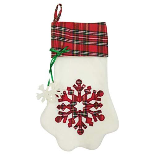 Joyibay Weihnachten Strumpf Nette Katzenpfote Schneeflocke Weihnachten Baum Weihnachten Hängender Strumpf
