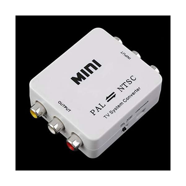 RoadRoma PAL NTSC SECAM A NTSC PAL TV Adaptador de conmutador convertidor de Sistema de Video Nuevo (Blanco) 4