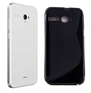 Lava Iris Atom 2X Magic Brand S-Line Black Soft Silicon Back Cover Case