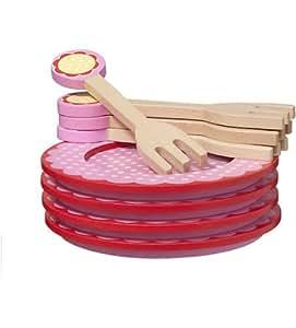 HEMA assiettes et fourchettes en bois - hout