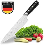 Teclat Kitchen Knife - Genuine German Stainless Steel Chef's Knife with Ergonomic - Robust Handle - Ultra Sharp Knife Kitchen - Non-Stick and Anti-Corrosion (8 Inches / 20.3 cm)